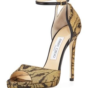 NIB Jimmy Choo Pearl 120 Moire Sandals Heels
